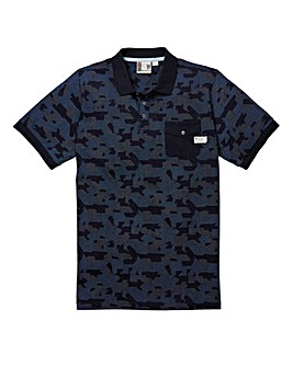 Fenchurch Camo Element Polo Long