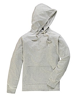 Jacamo Ecru Fleck Hooded Top Reg