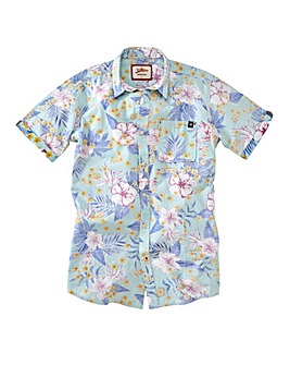 Joe Browns Aqua Floral Shirt Reg