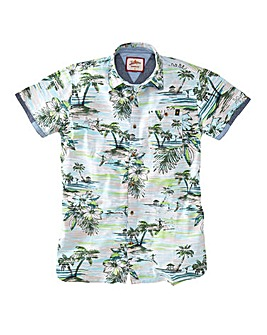 Joe Browns Beachscape Print SS Shirt Reg