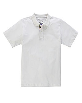 Jacamo White Tropics Jersey Polo Regular