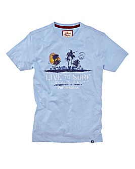 Joe Browns Live To Surf Marl Tee Long