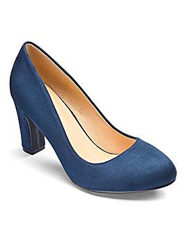 Heavenly Soles Almond Court Shoes EEE