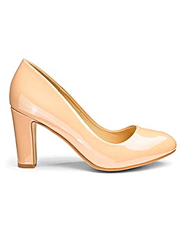 Heavenly Soles Almond Court Shoes E Fit