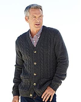 Premier Man Aran Button Cardigan