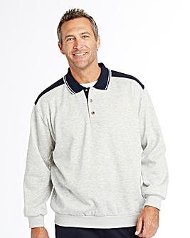 Premier Man Button Neck Sweatshirt