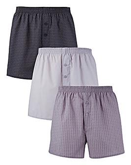Southbay Pack of 3 Printed Woven Boxers