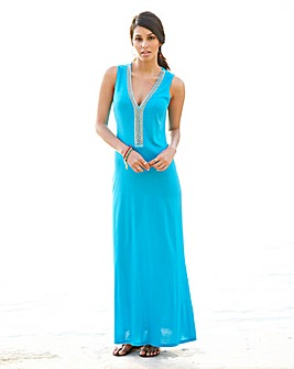 Plain jersey Maxi Length Dress