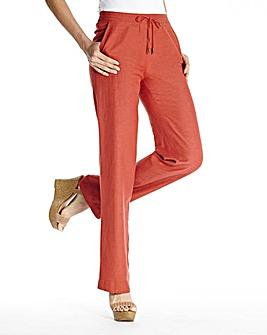 Linen Mix Trousers Length Long
