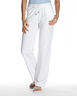 Linen Mix Trousers Length Regular