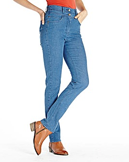 Helena Slim Leg High Waist Jean Short