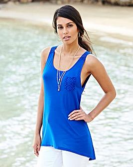 Sleeveless Jersey Lace Tunic