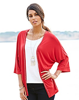 Jersey Kimono With Diamante Trim