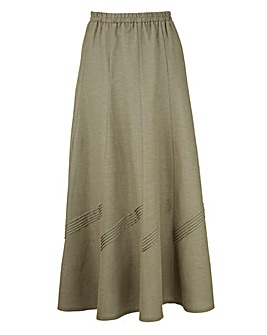 Linen Mix Skirt 30in