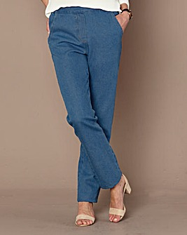 Pull On Straight Leg Jeans 31in