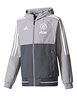 adidas MUFC Boys Youth Tracksuit Jacket