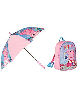 Peppa Pig Backpack & Umbrella.