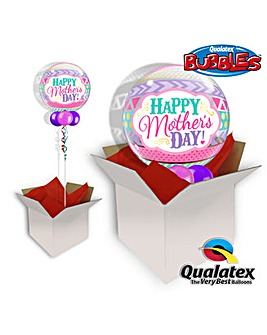 Happy Mothers Day Bubble Balloon In Box