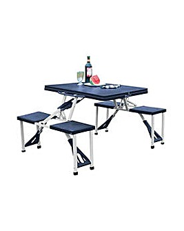Folding Camping Table and 4 Stools.