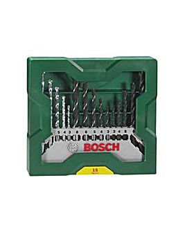 Bosch 15 Piece X-Line Drill Bit Set.