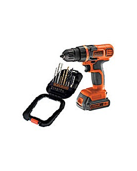 18V Drill Driver and 16 Pc Accessory Set