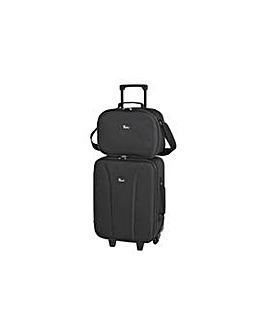 Go Explore Black Trolley Flight Bag