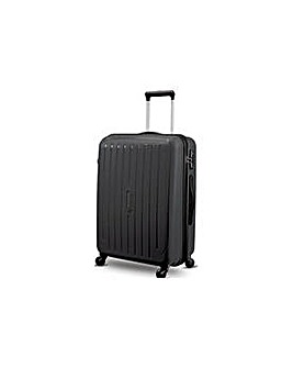 Large 4 Wheel Hard Suitcase - Silver
