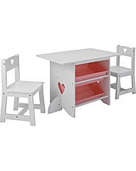 Mia Table and Chairs - White