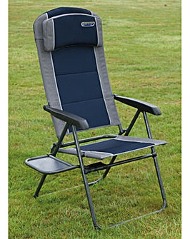 Ragley pro blue recline chair with table