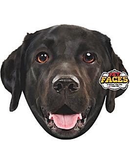 Pet Face Cushions Black Labrador