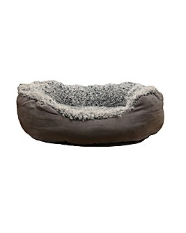 """40 Winks Grey Lion Oval Bed 25"""""""