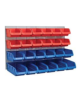 Faithfull 24 Plastic Storage Bins with M