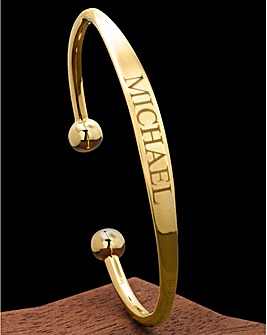 Gold-Plated 1/2oz Solid Torque Bangle