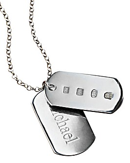 Sterling Silver Dog-Tag Pendant
