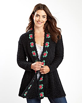 Joe Browns Fluffy Rose Cardigan