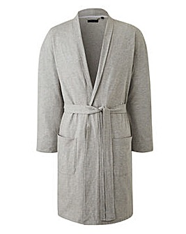 Capsule Grey Jersey Dressing Gown