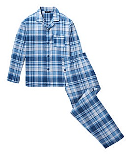 Capsule Brushed Check PJ Set