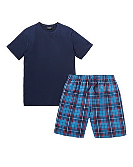 Capsule Check Shorts PJ Set