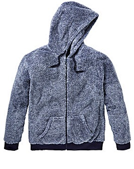 Capsule Sherpa Zip Hooded Top