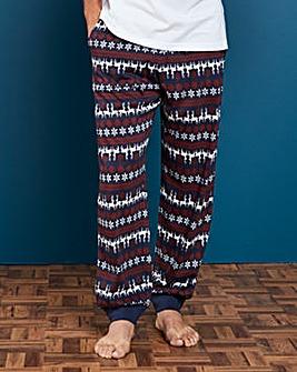 Capsule Christmas Print Cuff Loungepants