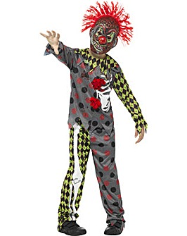 Halloween Deluxe Twisted Clown Costume