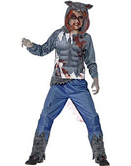 Halloween Deluxe Wolf Warrior Costume