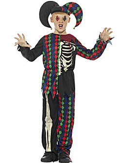 Halloween Skeleton Jester Costume