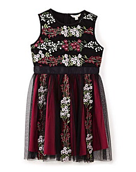 Yumi Girl Woodland Embroidered Dress