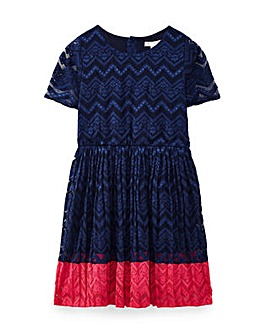 Yumi Girl Lace Panel Dress