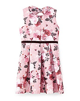 Yumi Girl Metallic Jacquard Dress