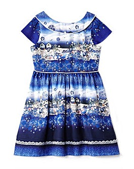 Yumi Girl Seascape Collared Dress