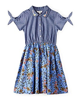 Yumi Girl Chambray French Floral Shirt D