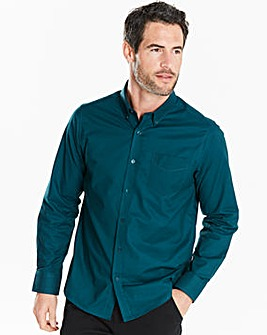 Capsule L/S Teal Oxford Shirt Regular