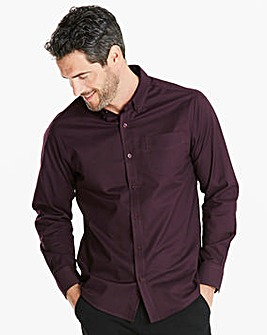 Capsule L/S Plum Oxford Shirt Regular